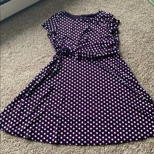 Polka Dot Purple Dress